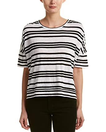 31da9ea04a7066 Image Unavailable. Image not available for. Color: alice + olivia Womens  Variegated Stripe Shirt ...