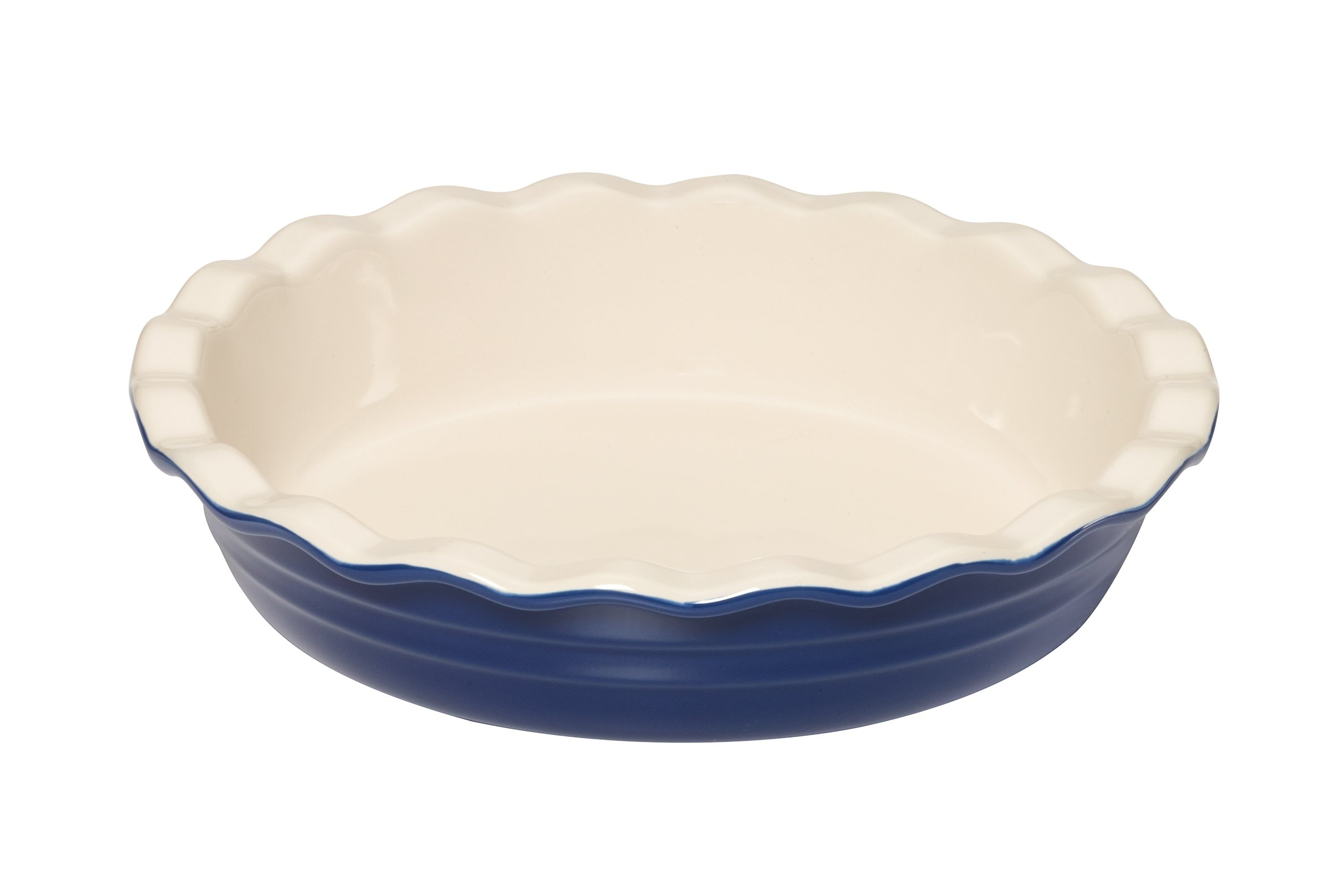Baker's Advantage Ceramic Deep Pie Dish, 9-1/2-Inch, Blue by Baker's Advantage