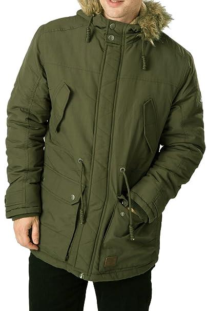 Amazon.com: Hombre Threadbare Invierno Fleece con capucha de ...