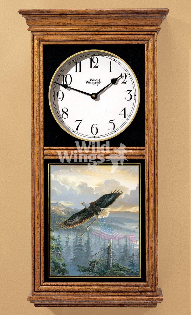 Rebuilding America - Bald Eagle Regulator Clock by Persis Clayton Weirs by Wild Wings