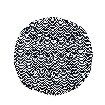 Cojines de asiento Cojín Circular Azul Oscuro Silla de la ...