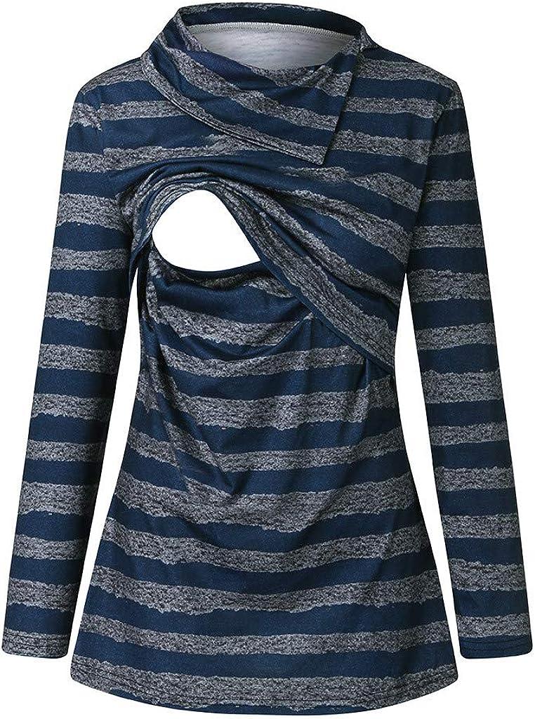 Kekebest Women'S Maternity Long Shirt Breastfeeding Blouse Tops 2020 Winter Sale Pregnant Nursing O-Neck Printed Casual