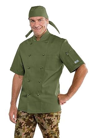 Isacco Chaqueta de Cocina Color Verde Militar Verde L ...