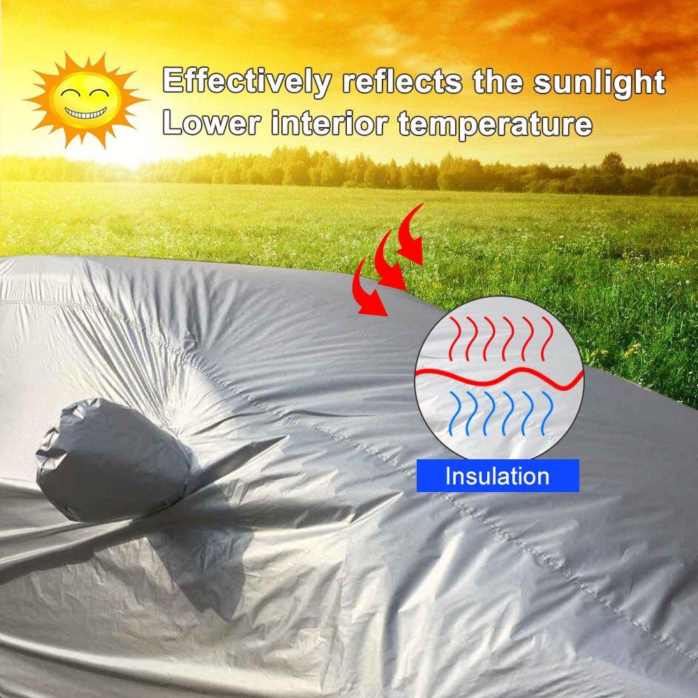 Copertura Auto Completa Copertura SUV Protezione XL(5.25m x 1.90m x 1.8m) KKmoon Copriauto Telo Copriauto SUV Impermeabile Pieghevole Anti UV Anti Pioggia Sole Copriauto per SUV