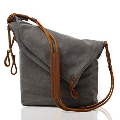 Kemy s Oversized Canvas Crossbody Satchel Bags for Women Hobo Handbags Cross  Body Tote Unisex Vintage Men 1930a024d347b