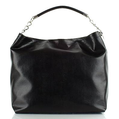 b43e61cabeda Armani Jeans Black T523D.S3 Women s Tote Bag Black Leather  Amazon ...