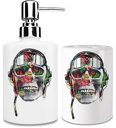 Pilot dispensador de jabón líquido y vaso para cepillo de dientes set| añadir un toque