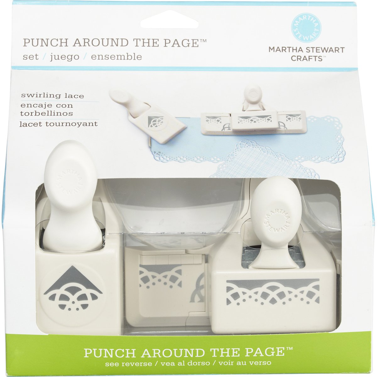 Martha Stewart Crafts Punch Around the Page, Swirling Lace Punch Set