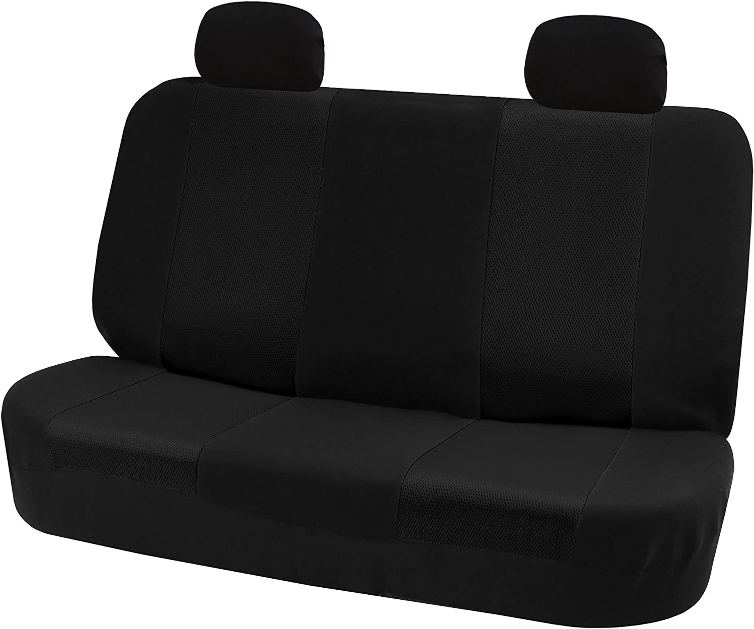 All Purpose Classic Cloth Seat Covers Gray//Black SUV Fit Most Car FH Group FH-FB302114 Full Set Truck or Van