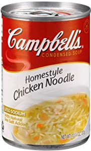 Campbell's Homestyle Chicken Noodle Soup, 10.75 oz Can (Pack of 12)