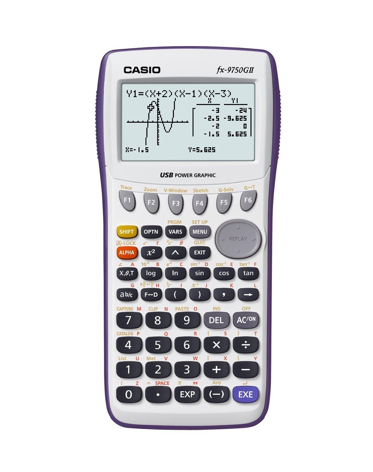 Casio fx-9750GII Graphing Calculator, White (Renewed) by Casio