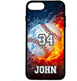iPhone 6S Case, iPhone 6 Case, ArtsyCase Thunder Water Fire Sport Personalized Name Number Phone Case for iPhone 6 and iPhone 6S
