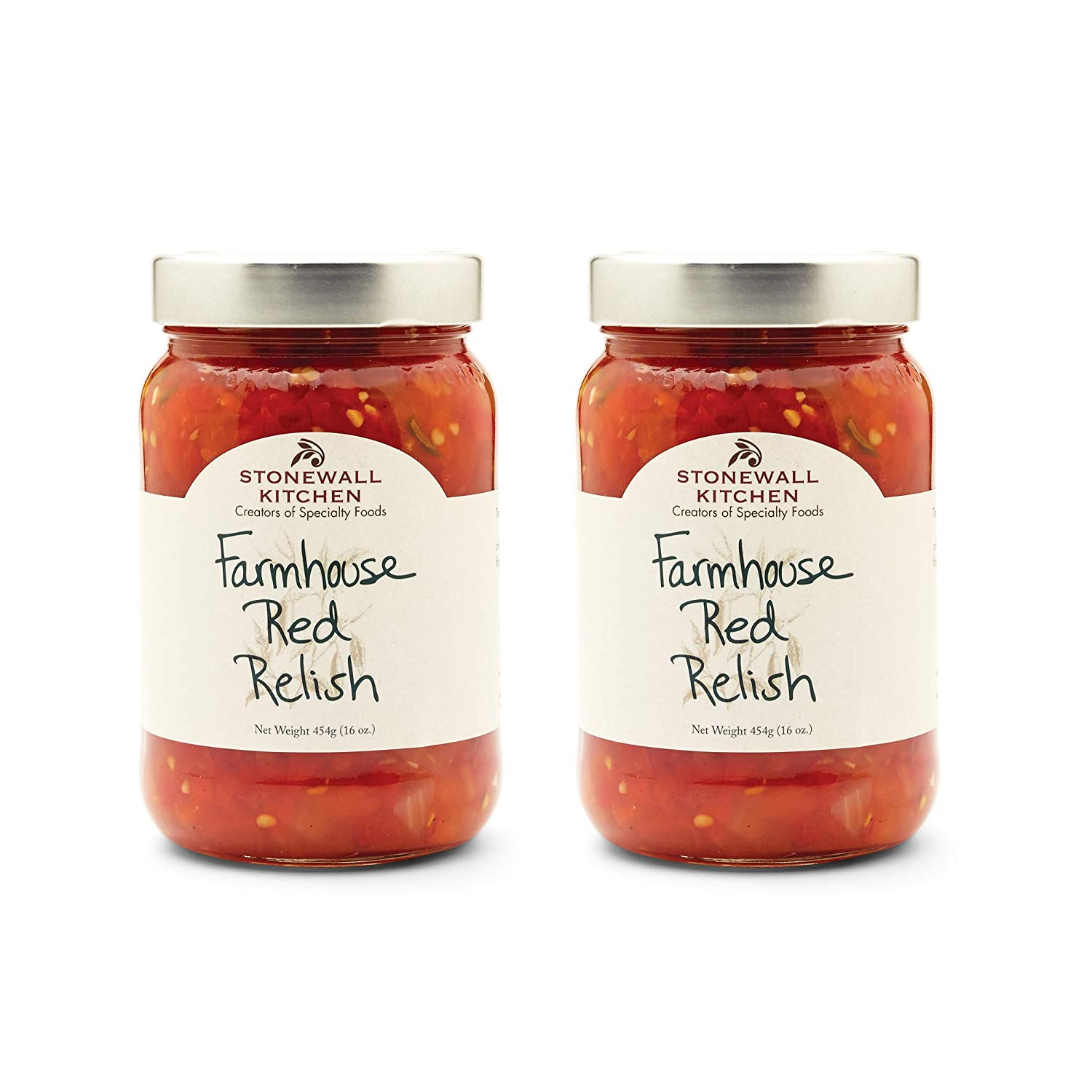 Stonewall Kitchen Farmhouse Red Relish, 16 Ounces (Pack of 2)
