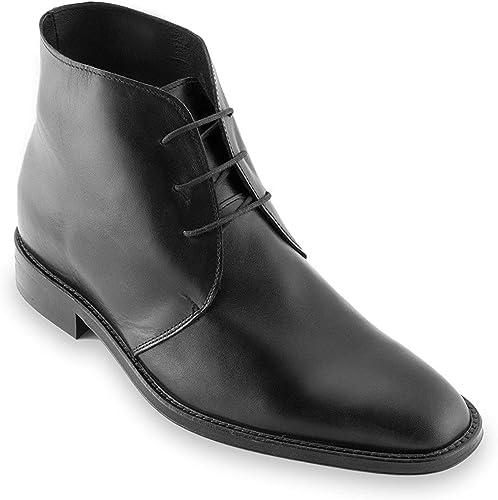 Fabbricate in Pelle Masaltos Scarpe con Rialzo per Uomo Che Aumentano l/'Altezza Fino a 7 cm Modello Corby A