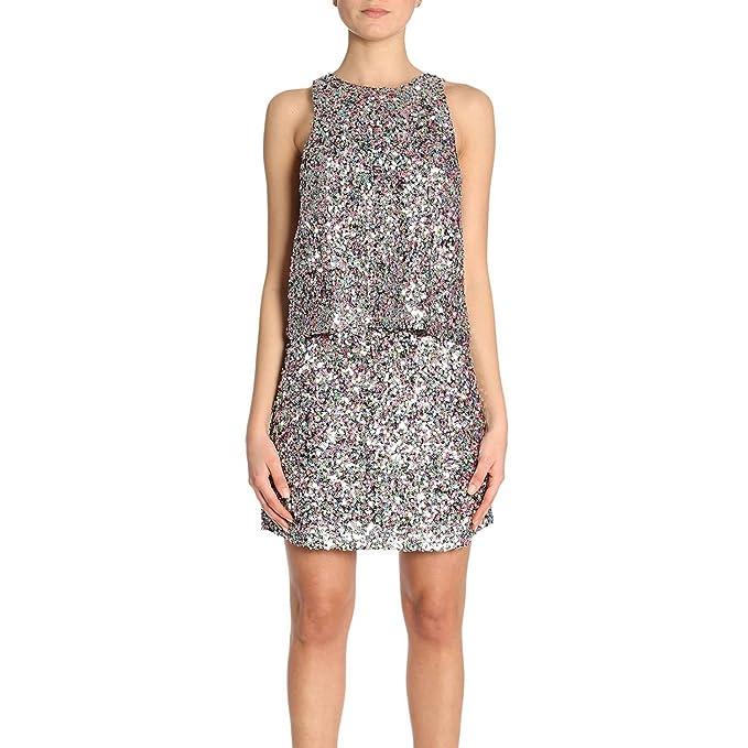 new styles 0ee0c bd1cd Emporio Armani Abito Donna Paillettes: Amazon.it: Abbigliamento