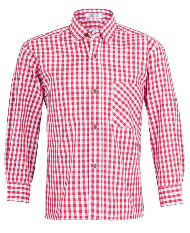 Isar Trachten Kinder Trachtenhemd Moritz - Schönes Trachten Hemd für Kinder in verschiedenen Farben verfügbar - Perfekt zur Lederhose für Buben