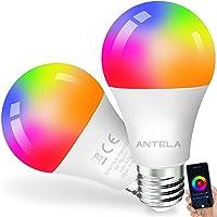ANTELA Bombilla Inteligente Alexa Google Home Bombilla E27 Wifi LED Multicolor Blanco Cálido Frío RGB( 2700K-6500K…