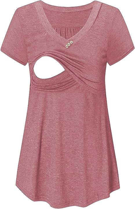 Bbhoping Maternity Nursing Tee Breastfeeding Shirts Short Long Tops For Women At Amazon Women S Clothing Store