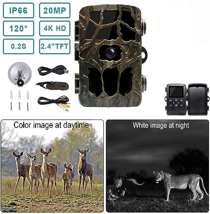 NEU Wildkamera Jagdkamera 16MP HD 1080P IP65 Wasserdicht Fotofalle IR Nachtsicht