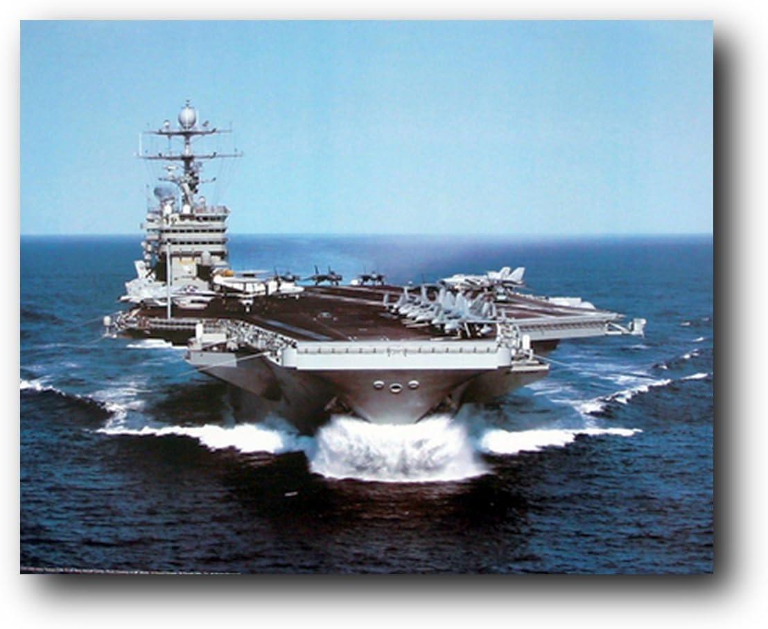 Wall Decor USS Harry Truman US Navy Aircraft Carrier Art Print Poster (16x20)