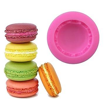 1 pcs de macarons 3d molde pastel decoración Chocolate molde silicona Fondant Moldes para jabón Candy Chocolate Gummies arcilla hacer moldes de pastel ...