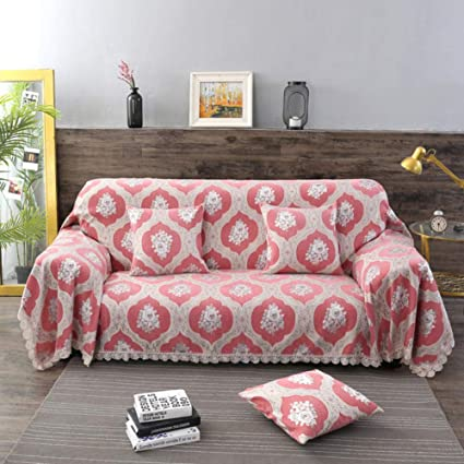 Amazon.com: SANDM Jacquard Chenille Sofa Cover, 1-Piece Anti ...
