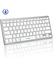VICTSING Bluetooth Keyboard, Portable Keyboard Simple Connect with iPad, Mac, Apple, Tablet, Smart-phone, Android, iOS, Windows etc. - Ultra-Slim, White