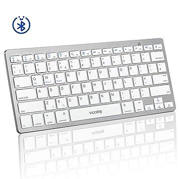 8ef33f083c2 VicTsing Bluetooth Keyboard, Portable Keyboard Simple Connect with iPad,  Mac, Apple, Tablet