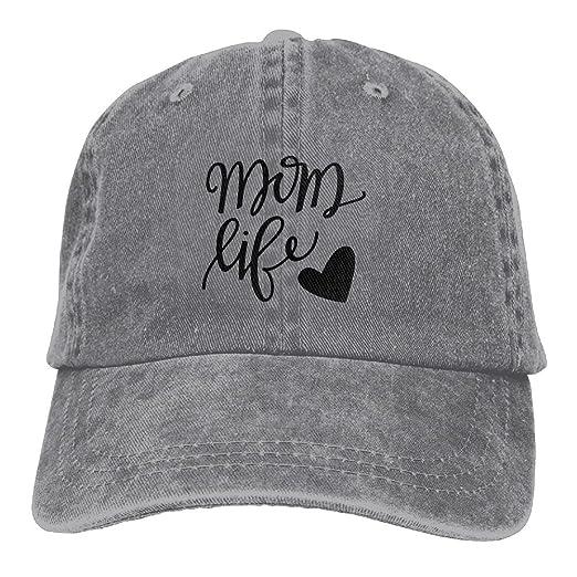 3172efda26a61 MCWO GRAY Mom Life Heart Unisex Denim Baseball Cap Adjustable Strap ...