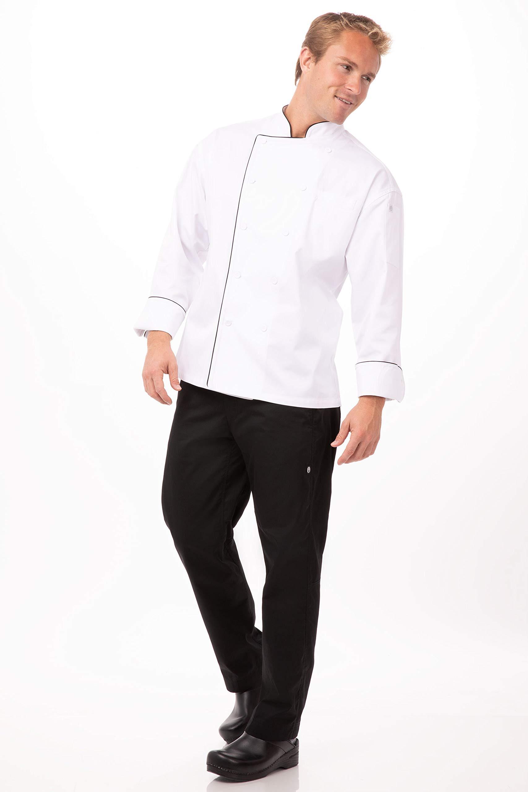Chef Works Mens Sicily Executive Chef Coat TRCC