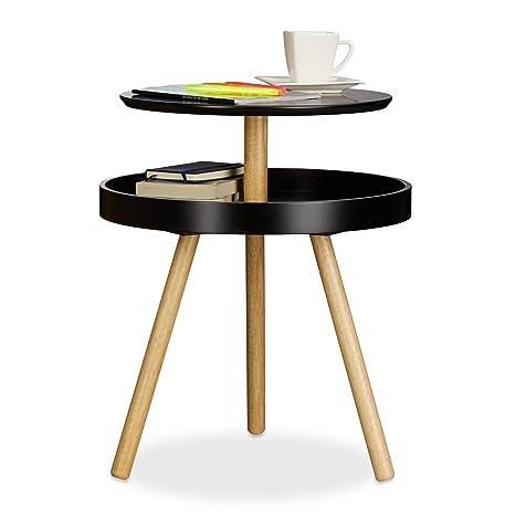 Beistelltische Rund Schwarz - The Ikea Table Tops
