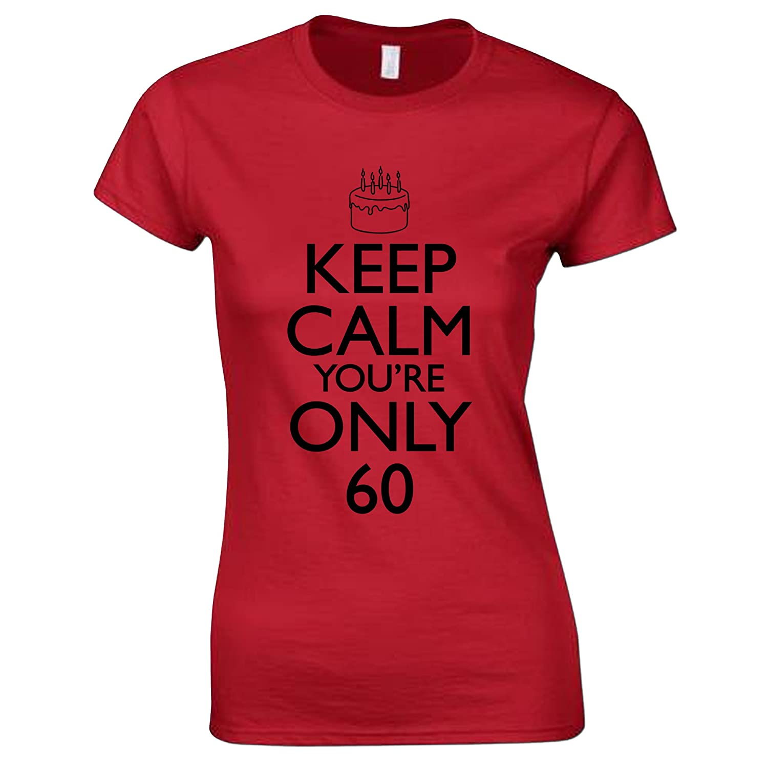 Bang Tidy Clothing Womens 60th Birthday T Shirt Keep Calm Gifts Amazoncouk