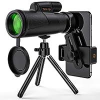 Monocular Telescope, 12x50 High Power HD Monocular for Bird Watching Adults with Smartphone Holder & Tripod BAK4 Prism...