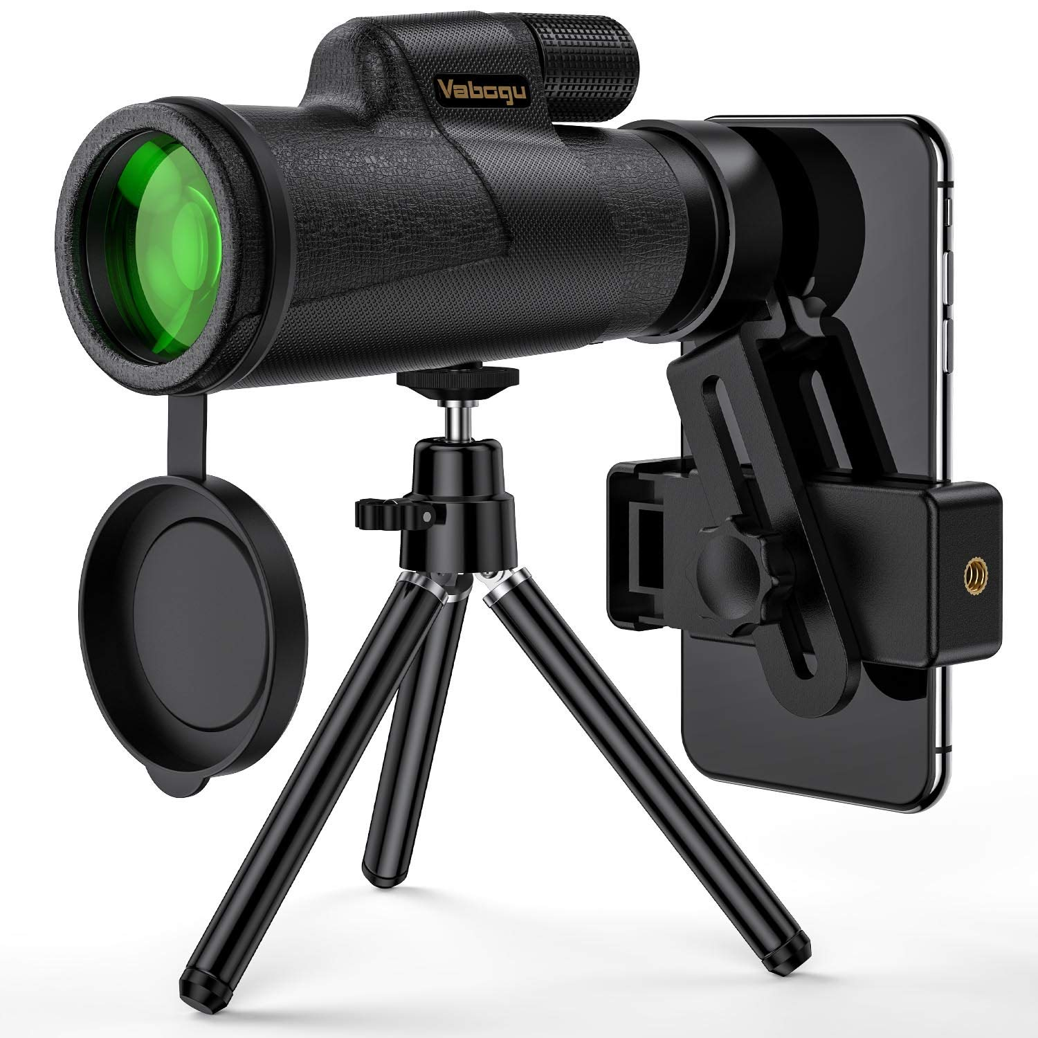 Monocular Telescope, 12x50 High Power HD Monocular for Bird Watching Adults with Smartphone Holder & Tripod BAK4 Prism for Wildlife Hunting Camping Travelling Wildlife - 2019 Newest by Vabogu
