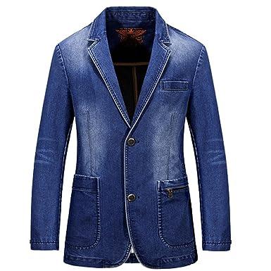 70217e711a2d33 Vazpue Suits Denim Men Blazer masculino Jacket Slim Fit Casual Autumn Winter  Blazer Men Suit Fashion