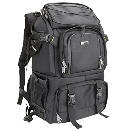 244991e535 Evecase Extra Large Professional DSLR Camera Laptop Travel Backpack Gadget  Bag w Rain Cover for
