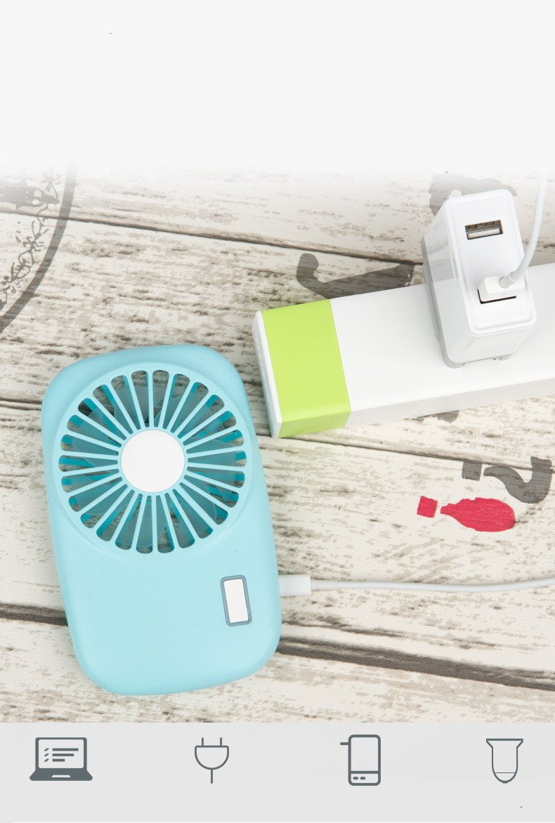 Camera Mini Handheld Personal Fan Rechargeable,USB Portable Adjustable Rechargeable USB Fans Travel Cooler with 2 Speed(Blue)