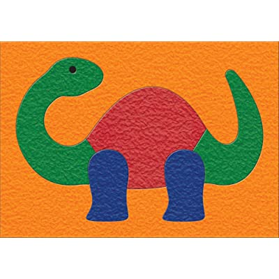 Lauri Crepe Rubber Puzzles - Dinosaur: Toys & Games
