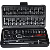Grizzly 46 In 1 Pcs Tool Kit & Screwdriver and Socket Set