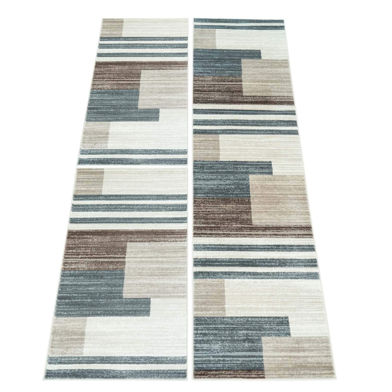 Carpet city Bettumrandung Teppich Läufer Modern Inspiration Style Vintage Rechteck-Muster Beige