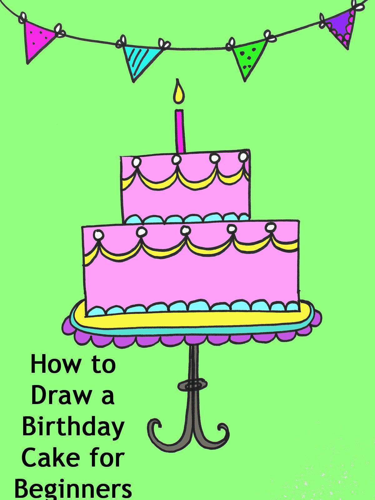 How to draw a birthday
