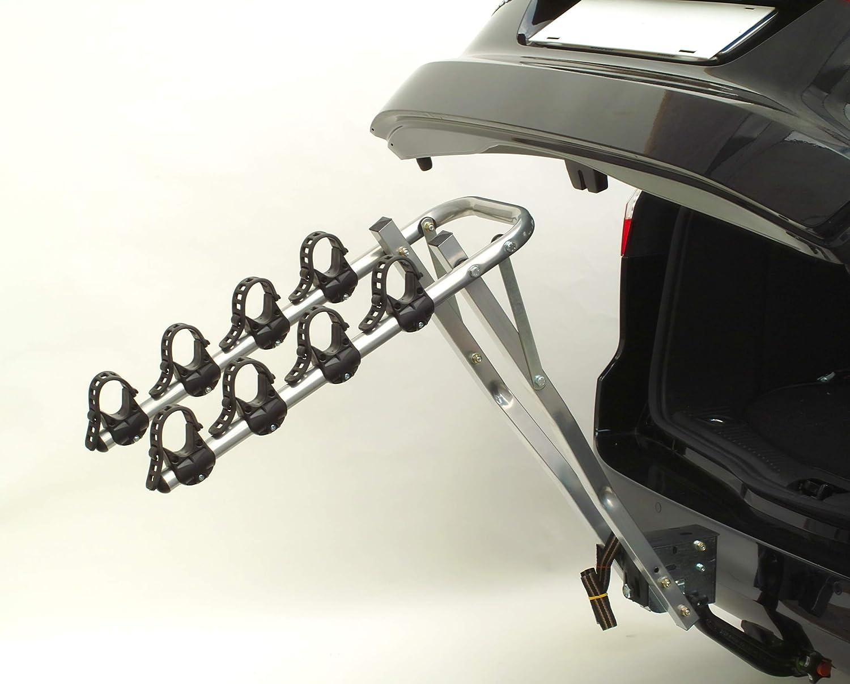 ETC ERR027 Deluxe 4-Bike Car Rack Silver