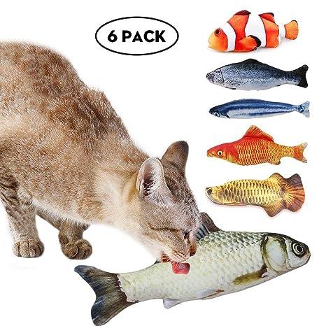 Aolvo - 6 paquetes de 200 mm para gatos, juguetes para gatos, gatos y gatos para masticar ...