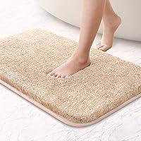 "VANZAVANZU Upgraded Soft Absorbent Non Slip Bath Mat 16""x24"" Fluffy Thick Microfiber Cozy Throw Bathroom Rugs with…"