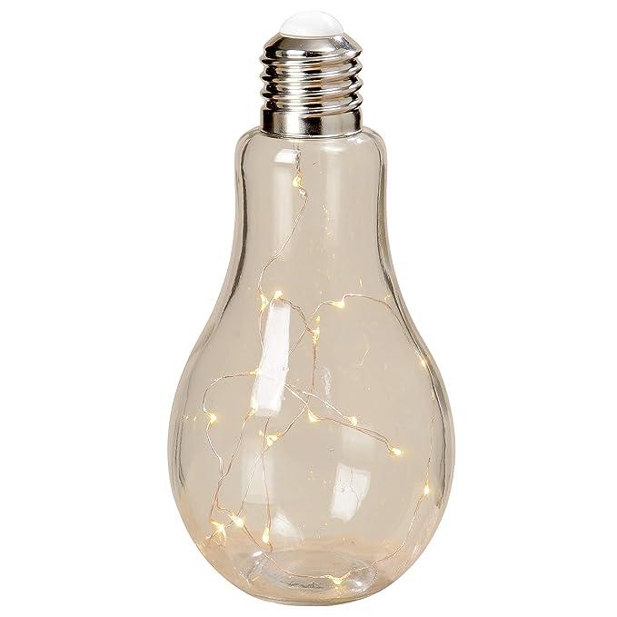 LED Tischleuchte Glühbirne kabellos Höhe 22 cm