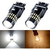 LIBRALUX 3157 Led Bulb 6000K White Super Bright 1000 Lumens 4014 Chipset 48-SMD 3056 3156 3057 4157 LED Bulb Reverse…