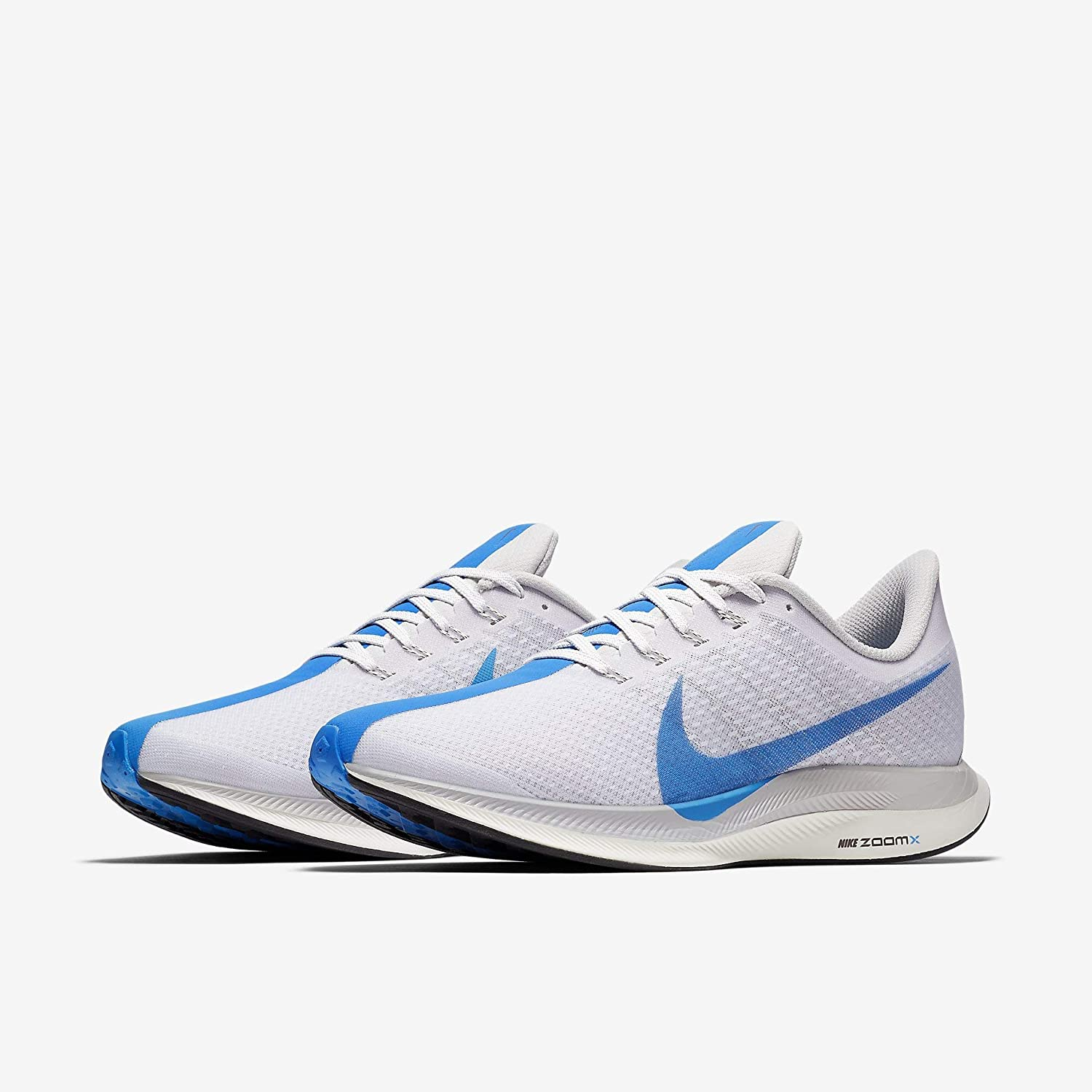 Amazon.com | NIKE Mens Air Zoom Pegasus 35 Turbo Running Shoes (11.5, White/Blue) | Shoes