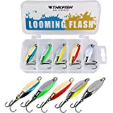 THKFISH Fishing Lures Trout Lures Fishing Spoons Lures for Trout Pike Bass Crappie Walleye 1/8oz 1/5oz 1/4oz 3/8oz 1/2oz 3/4o