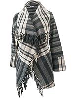 Brigitte von Boch - Damen - Tasselplaid Schal-Jacke