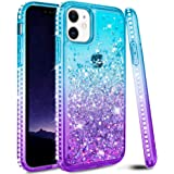 Ruky iPhone 11 Case, iPhone 11 Glitter Case Bling Colorful Quicksand Series Soft TPU Flowing Liquid Floating Sparkle Diamond Girls Women Phone Case for iPhone 11 6.1 inches 2019 (Aqua)
